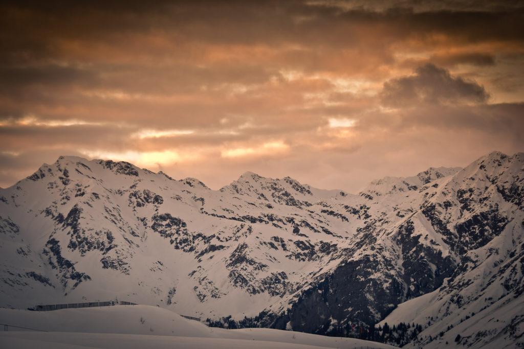 Blick von der Bergstation Kalcheralmlift Richtung Skigebiet Ratschings