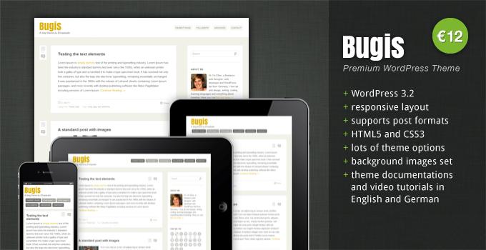 Ziemlich genial: Das WordPress Theme Bugis von elmastudio