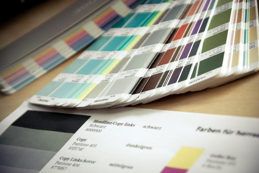Dokumentation der gewählten Farben