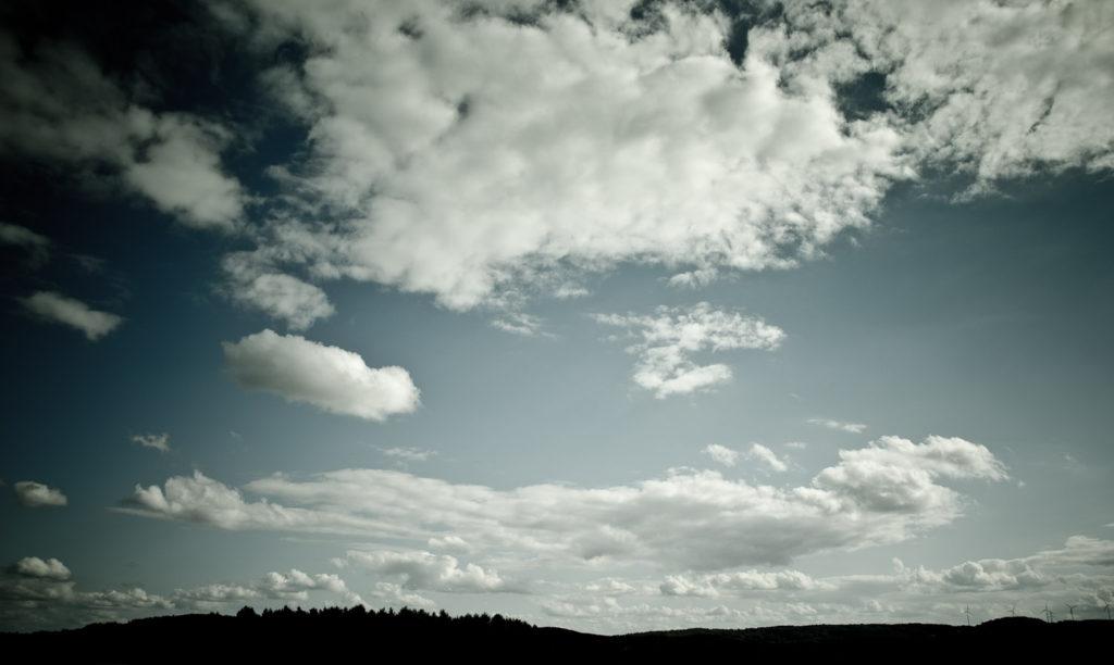 Imposantes Wolkenbild bei Geisdorf