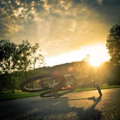 Nach der Tour: Verschnaufpause am Parkplatz Heiligenstädter See