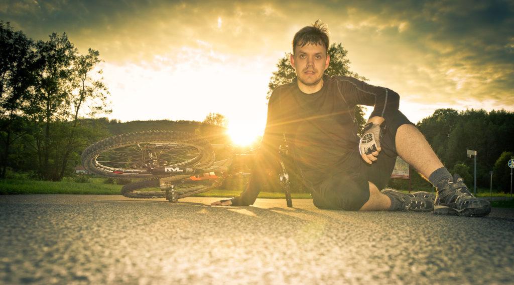 Experiment: Selbstportrait nach der Mountainbike Tour
