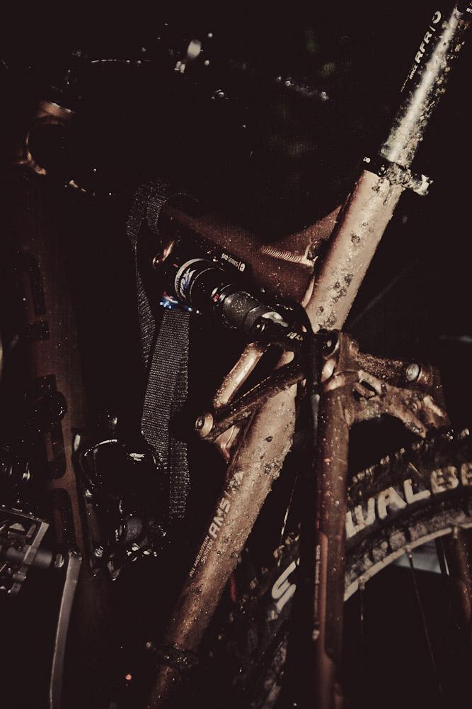 Mein Mountainbike im Sturm