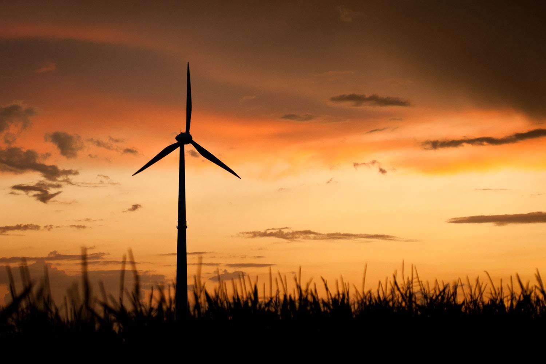 Die Ruhe vor dem Sturm: Das Windrad in Kasberg