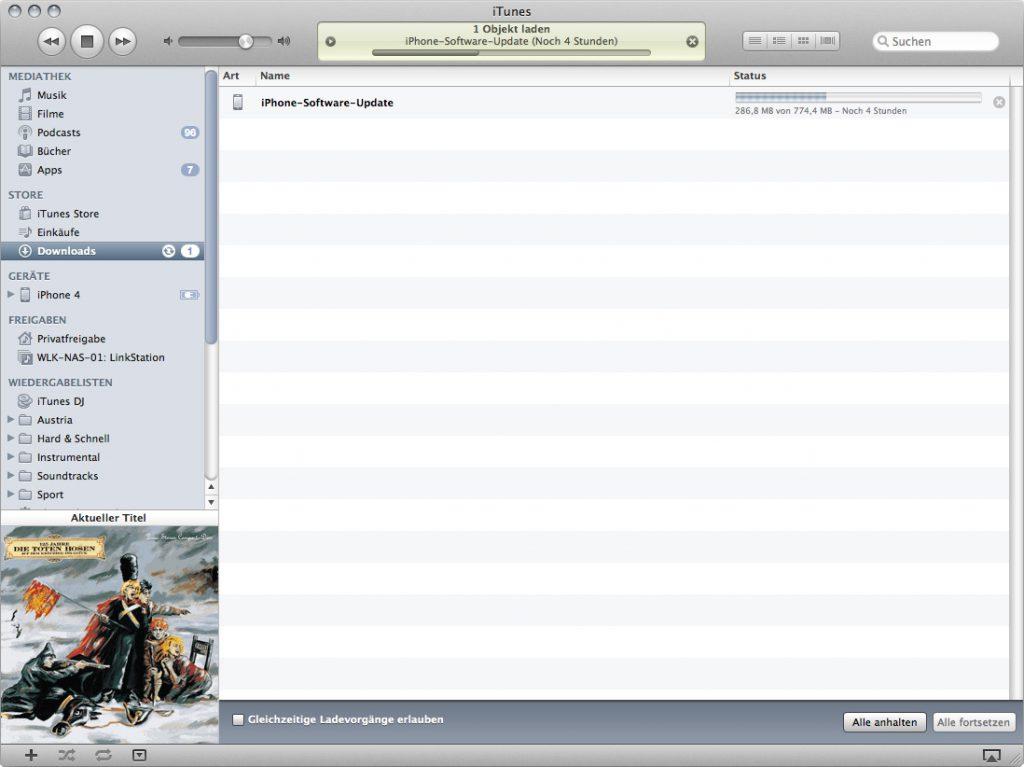 Download der iOS 5 Version für das iPhone