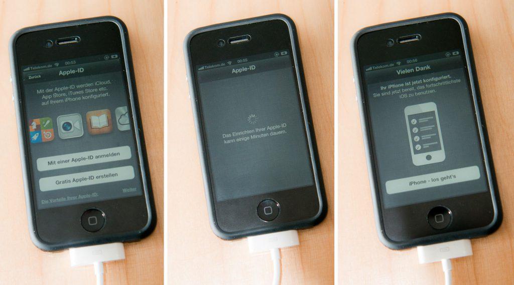 Apple-ID auf dem iPhone 4 unter iOS 5