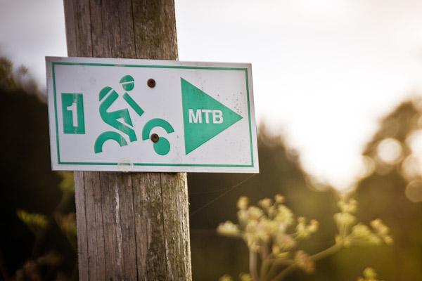 Der Streckenwegweiser für die Route MTB1 – Geisberg – um Heiligenstadt