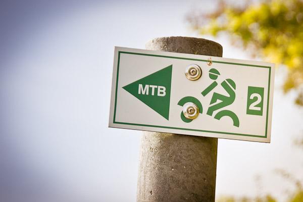 Der Streckenwegweiser für die Route MTB2 – Altenberg – um Heiligenstadt