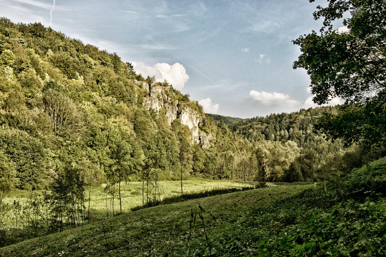 Brüchige Wand im Todsfelder Tal