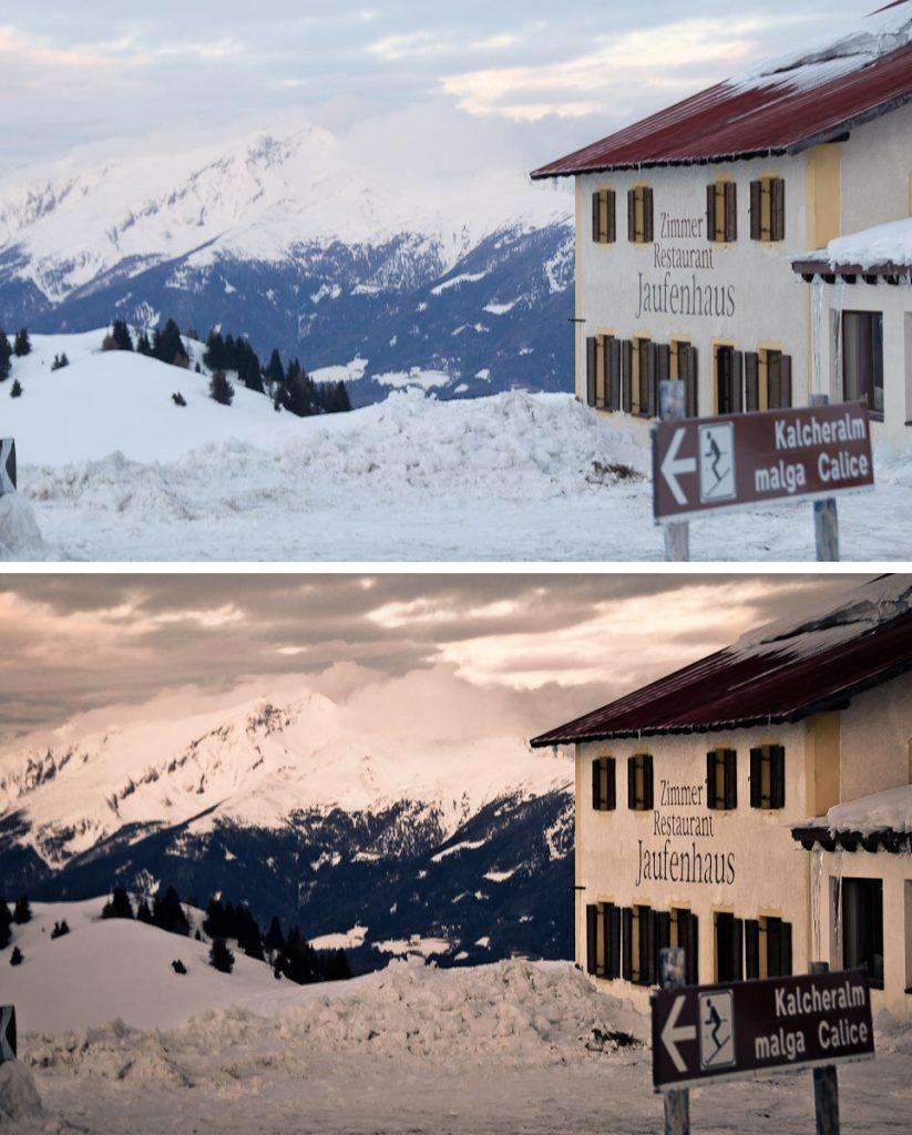 Das Jaufenhaus in Südtirol – bearbeitet mit Adobe Lightroom