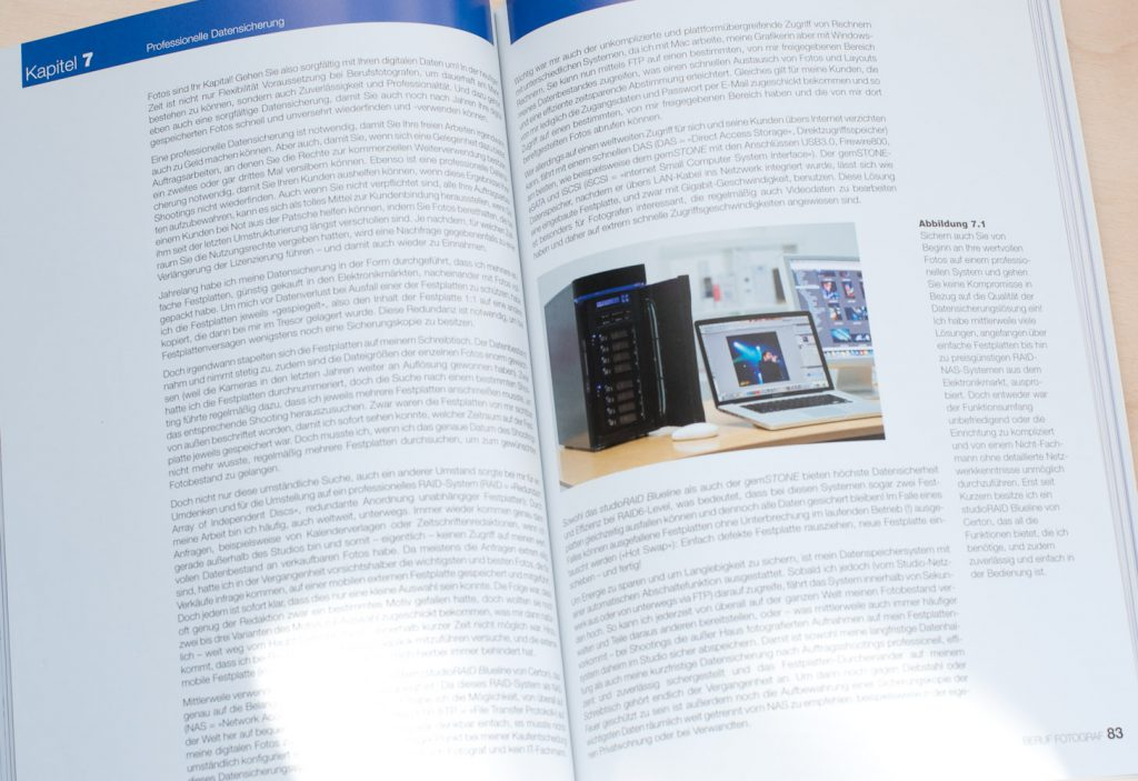 Ein Blick ins Buch: hier die professionelle Datensicherung