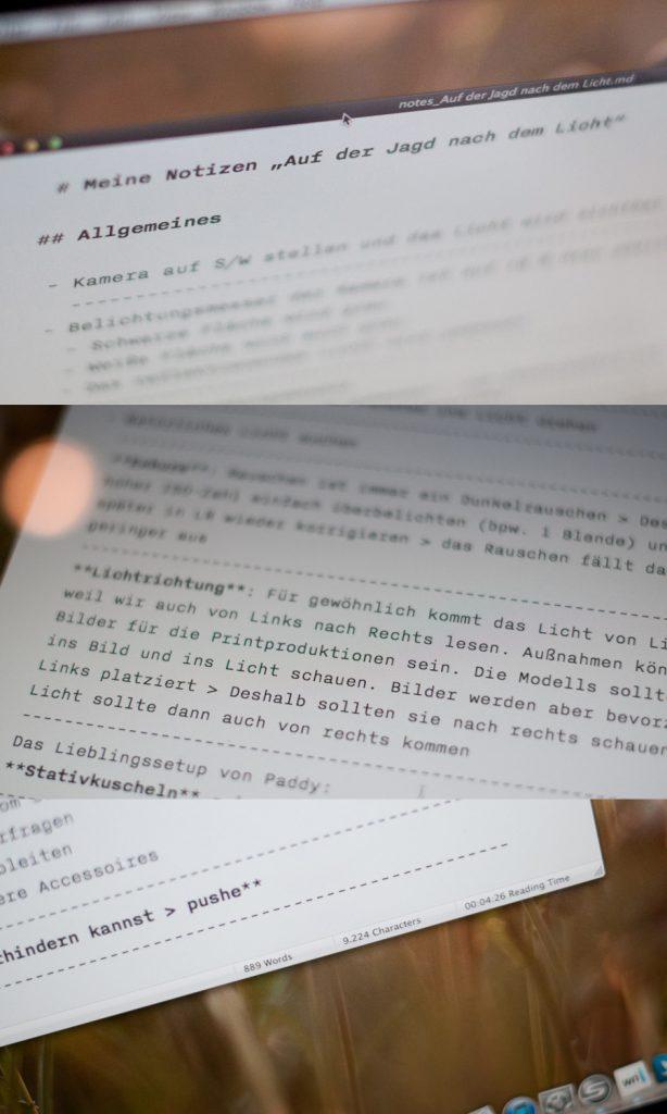 """Meine Notizen zur Knackscharf-Tour """"Auf der Jagd nach dem Licht"""""""