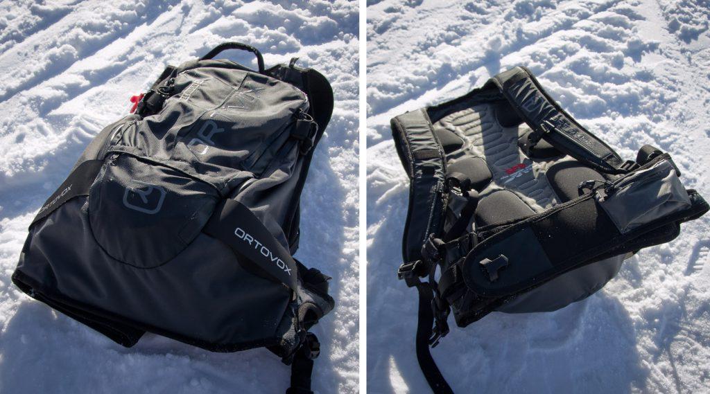 Der Ortovox Free Rider 26: Vorder und Rückseite