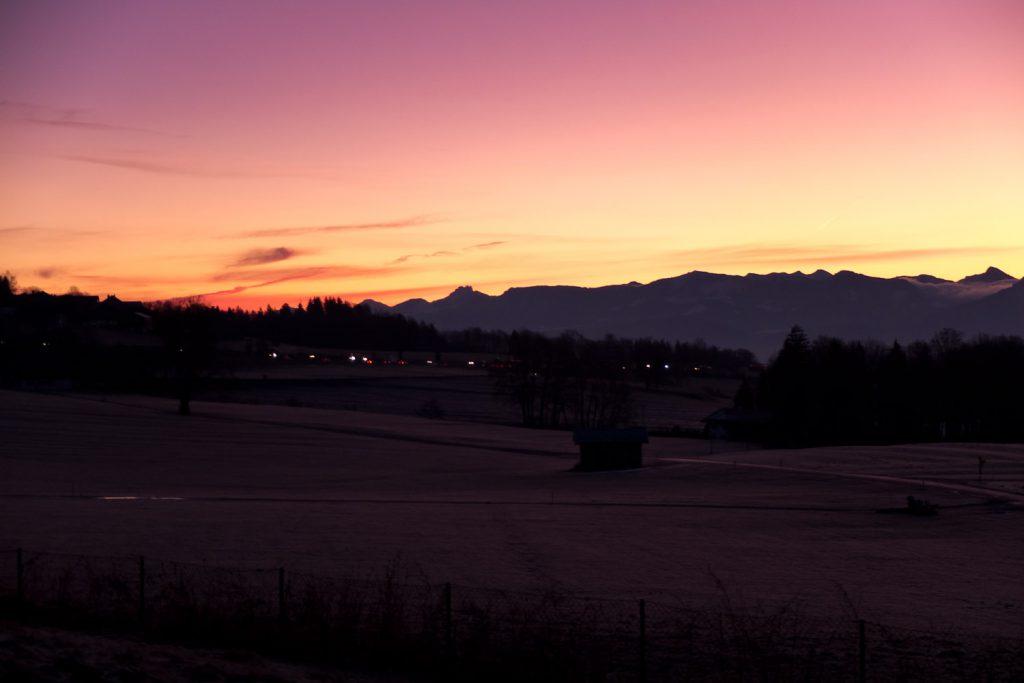 Sonnenaufgang am Irschenberg