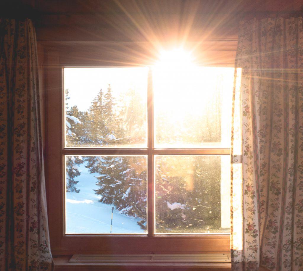 In der Zillertalarena: Blick aus dem Fenster im Skistadl