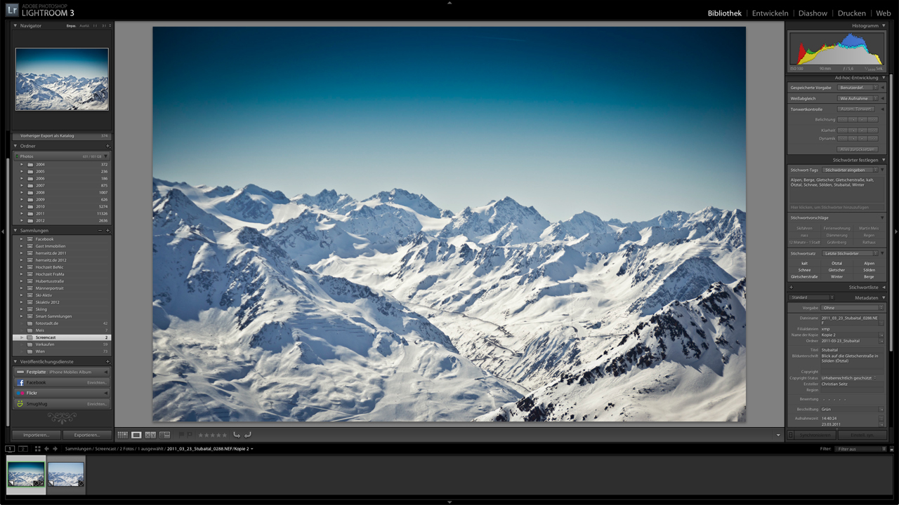 Lightroom-Tutorial:Himmelblau in den Bergen