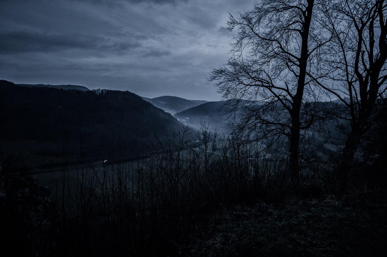 Von der Burgruine Neideck bei Nacht