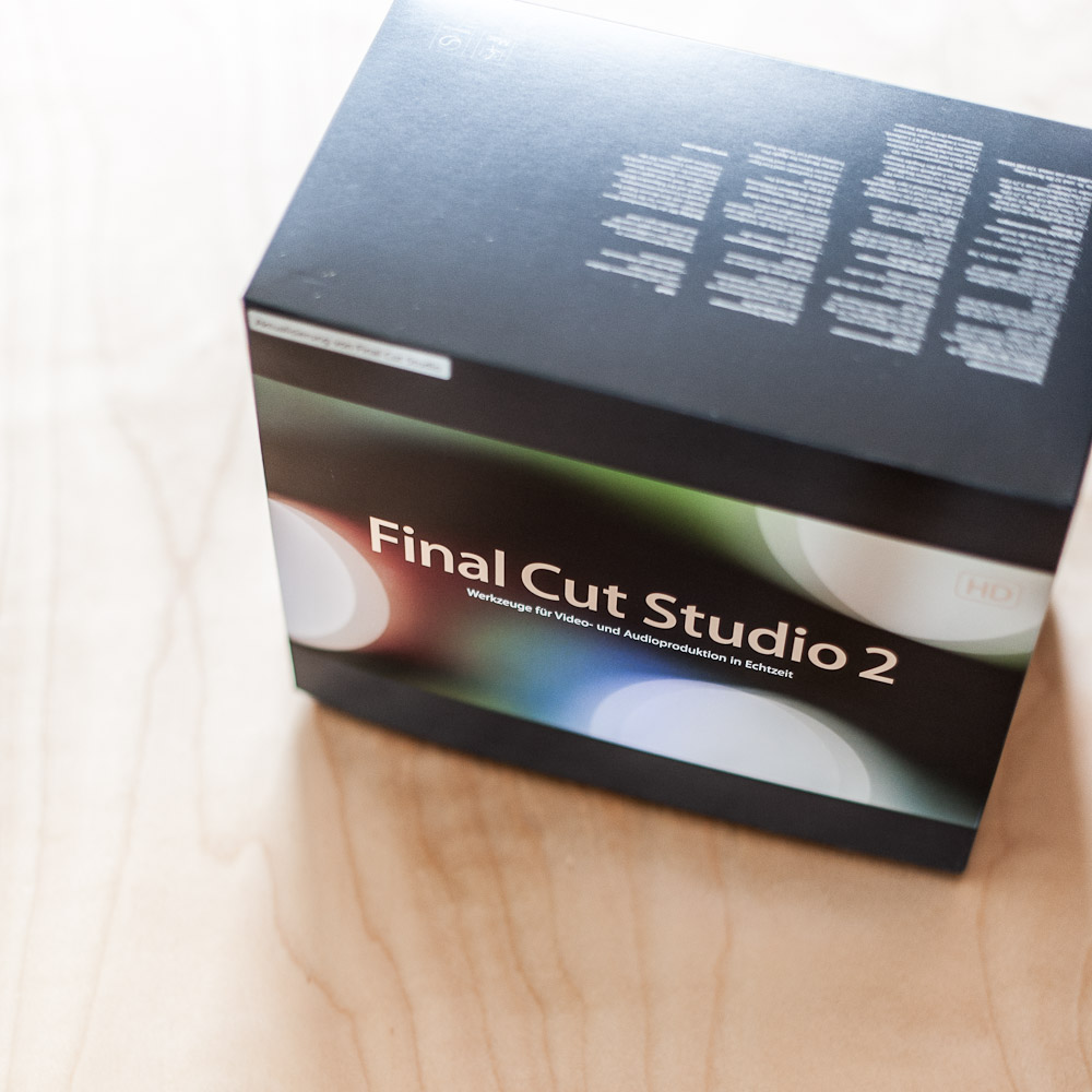 Packshot vom Apple Final Cut Studio 2