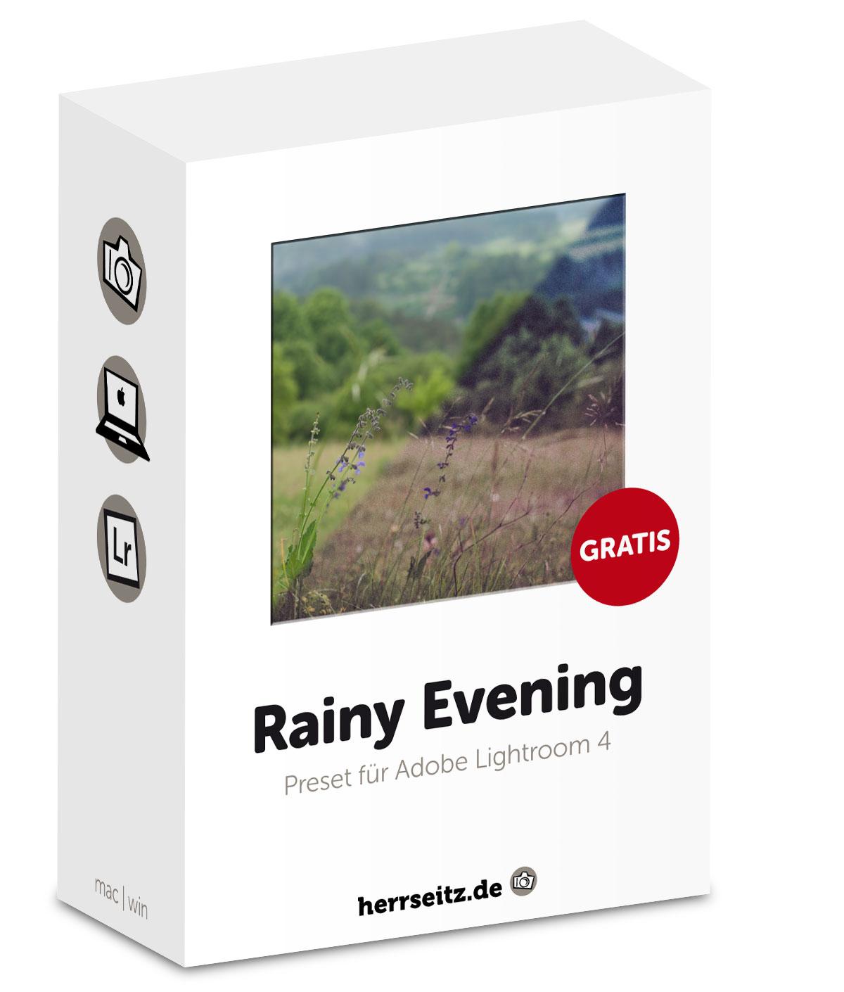 Preset für Adobe Lightroom 4: Rainy Evening