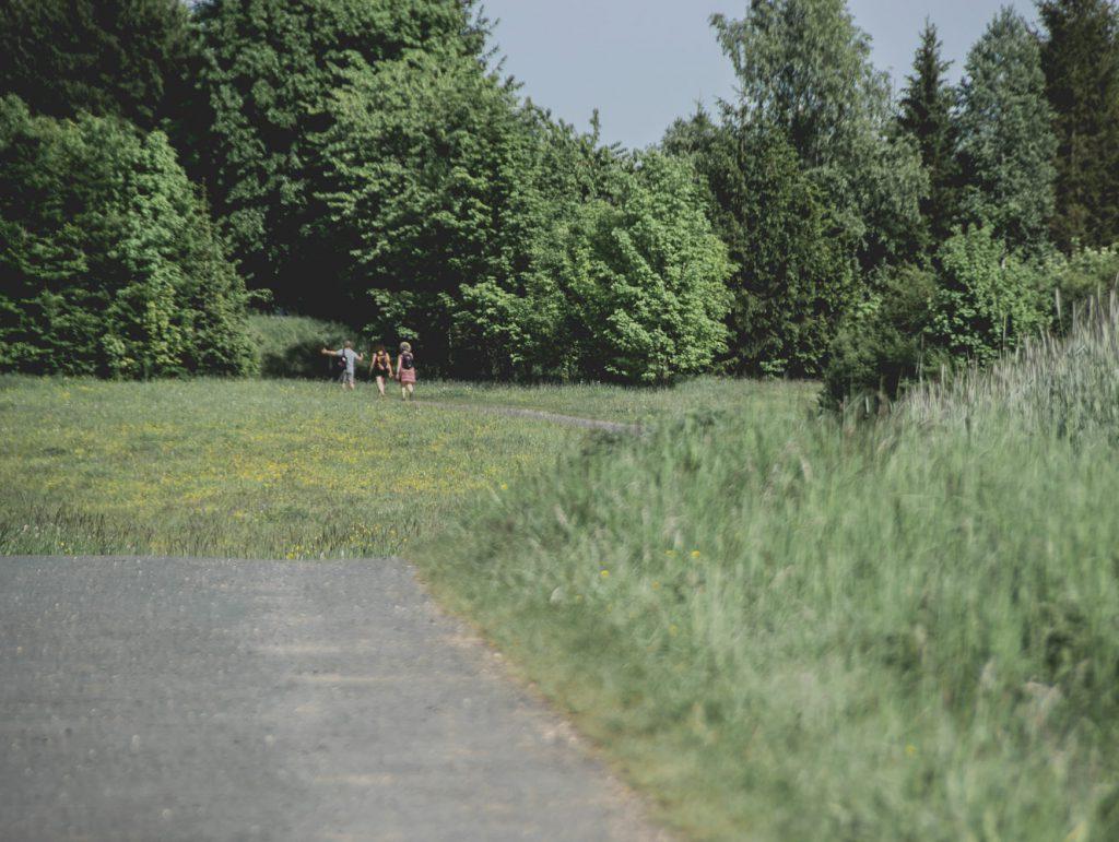Fußgänger auf dem Panoramaweg