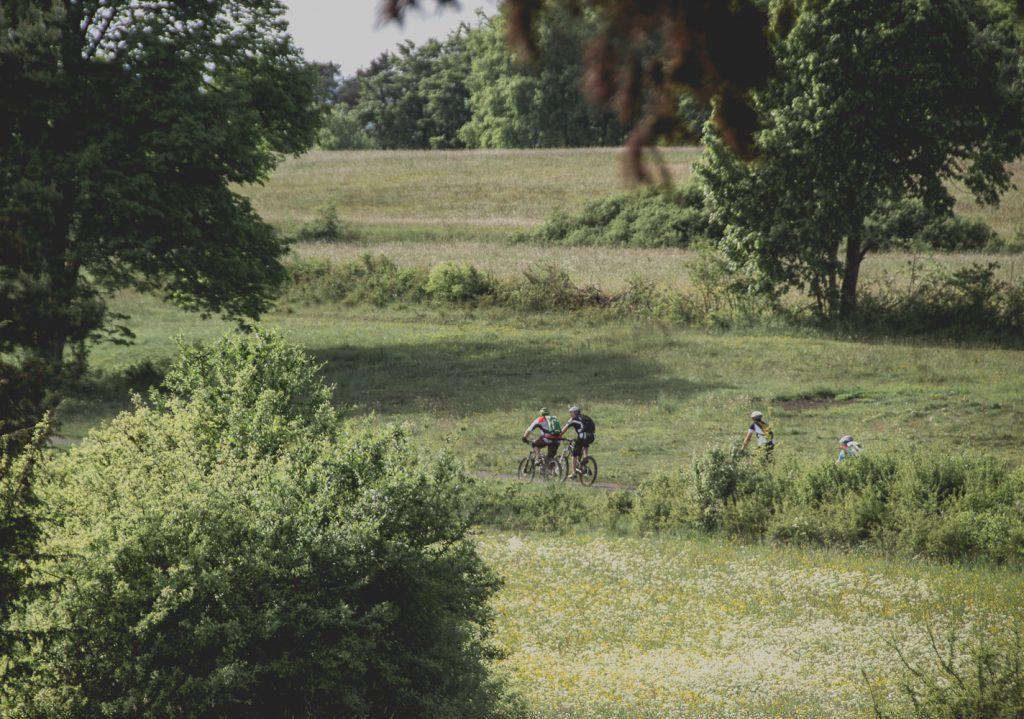 Biker auf dem Panoramaweg zwischen Pegnitz und Pottenstein