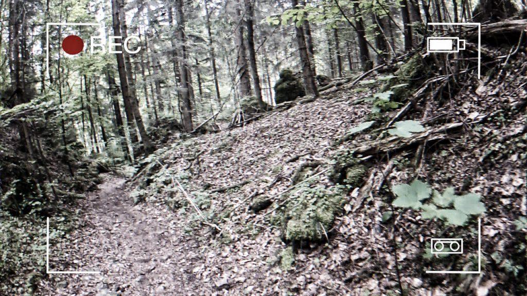 Abfahrt vor der Überquerung der Püttlach