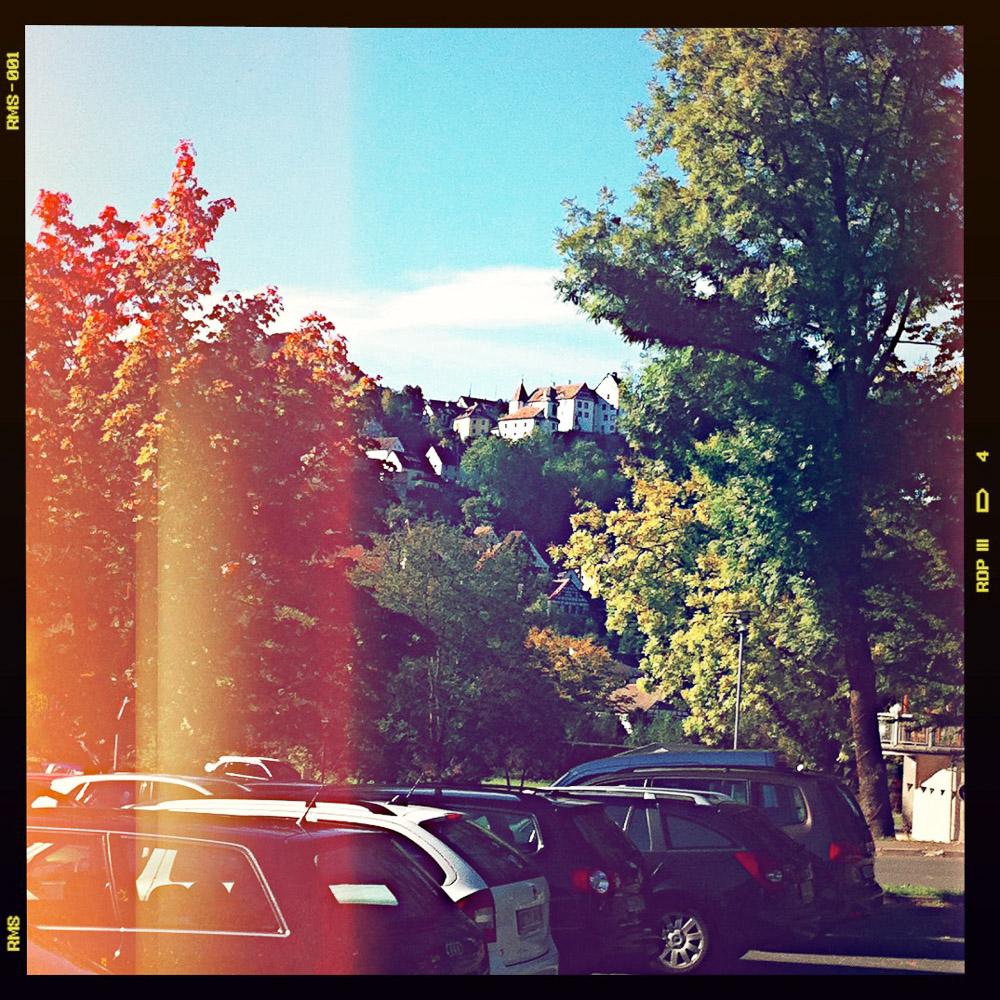 Startpunkt der Tour: Der Parkplatz in Egloffstein