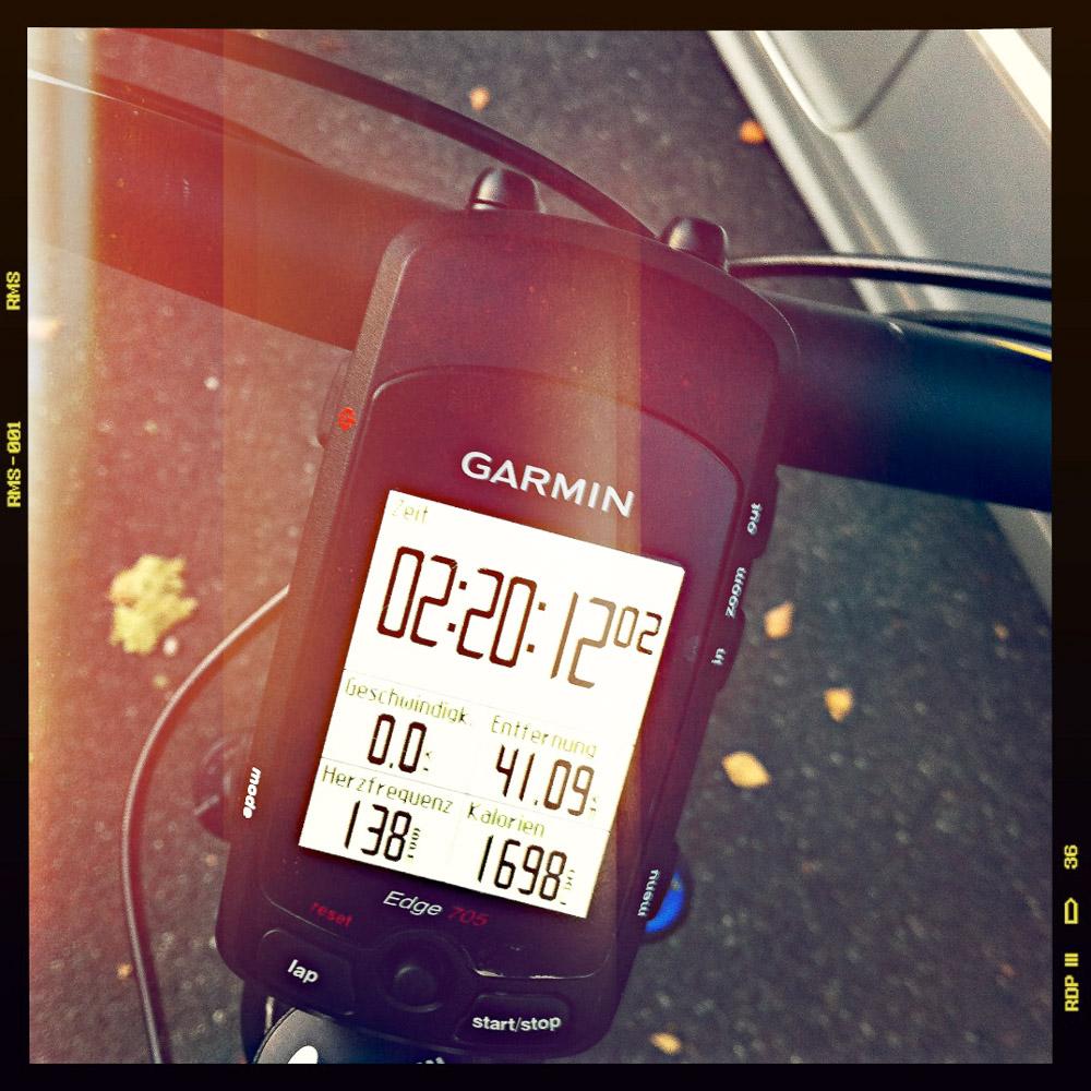 41 km in 2 Stunden 20 Minunten – ich fand's ganz in Ordnung