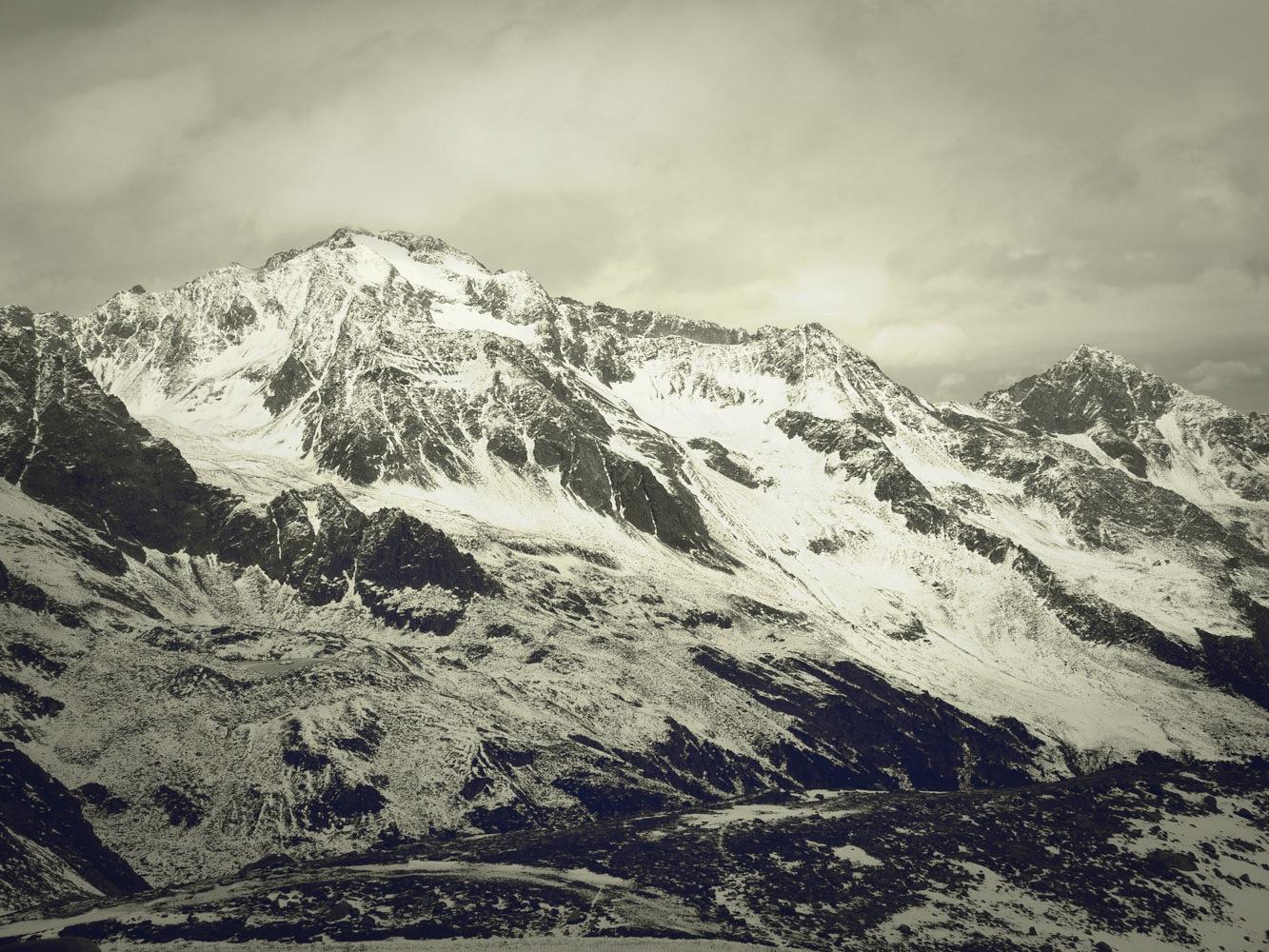 Stubaier Gletscher im November