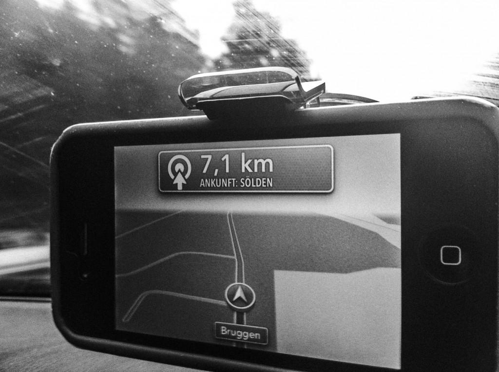 Navigation nach Sölden im Ötztal mit dem iPhone