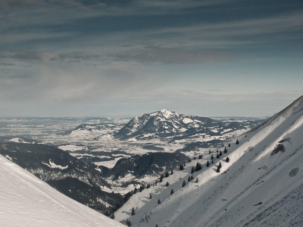 Blick auf den Engenkopf von der Bergstation der Kanzelwandbahn
