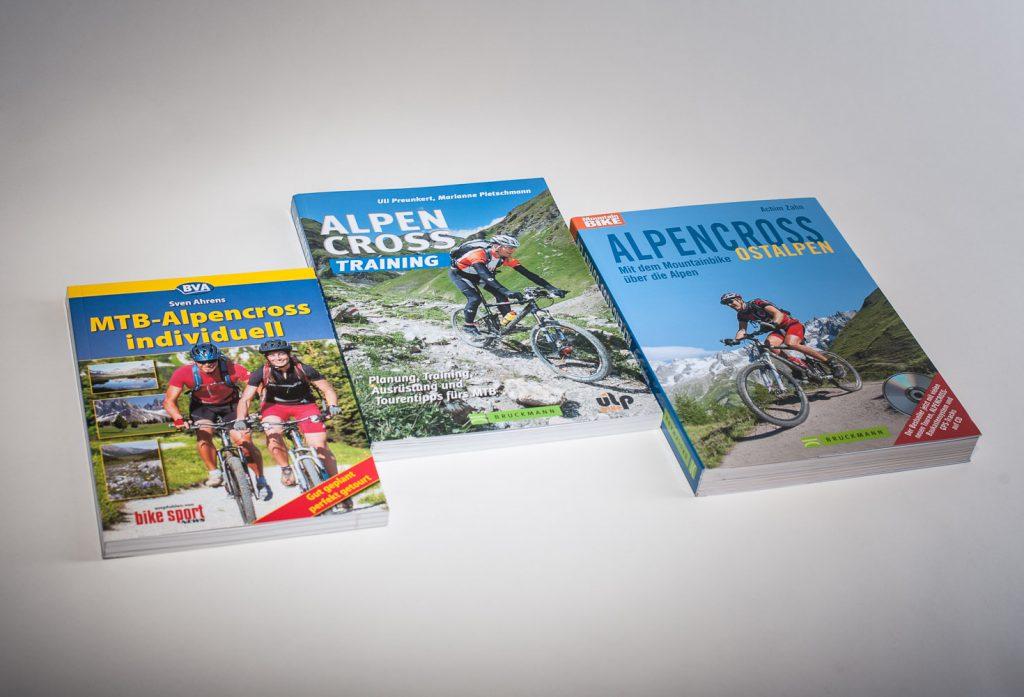 Bücher über die Alpenüberquerung mit dem Mountainbike