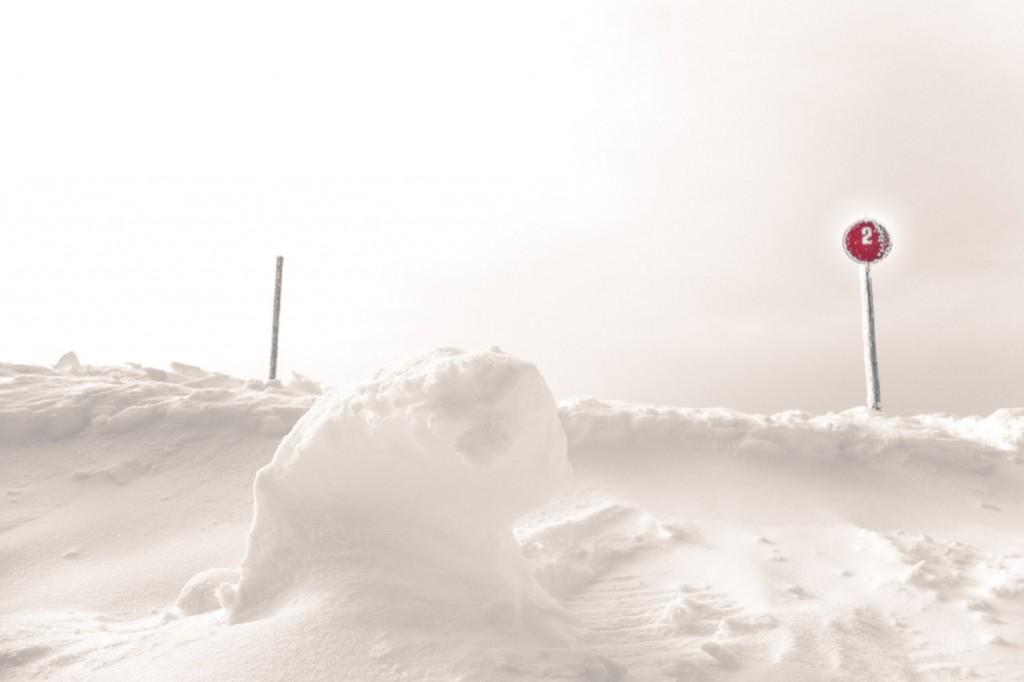 Schneeskulptur in Ratschings