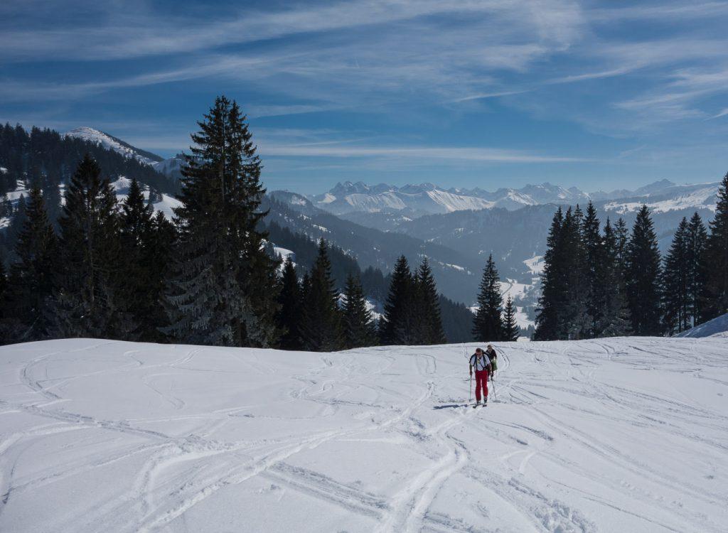 Gemütlicher Skitourenaufstieg zum Siplingerkop