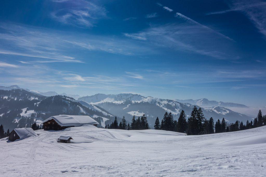 Blick auf die Obere Balderschwanger Alpe