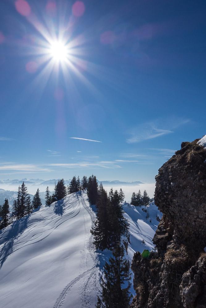Ausblick, kurz unterhalb des Heidenkopfs, Richtung Bregenzerwald