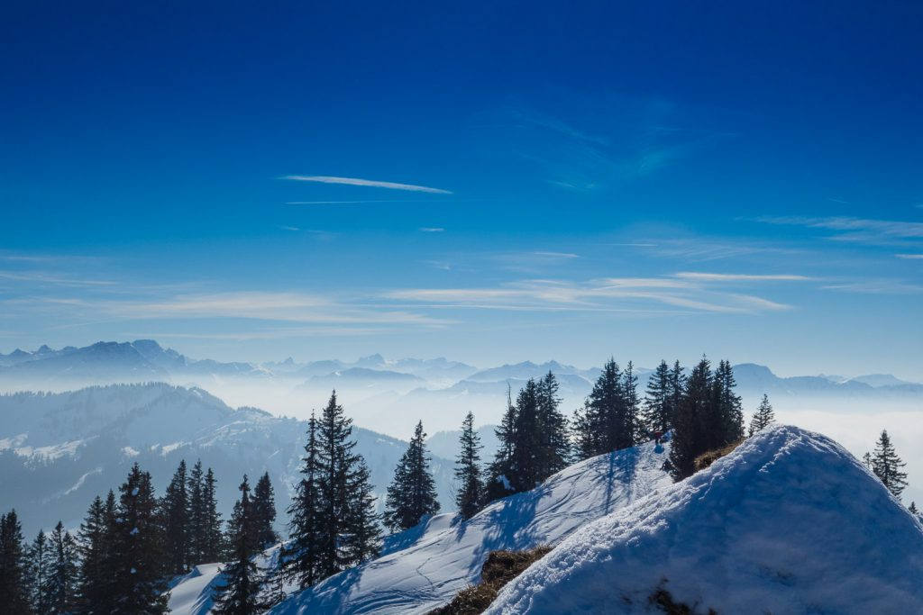 Während der Skitour bei Traumwetter