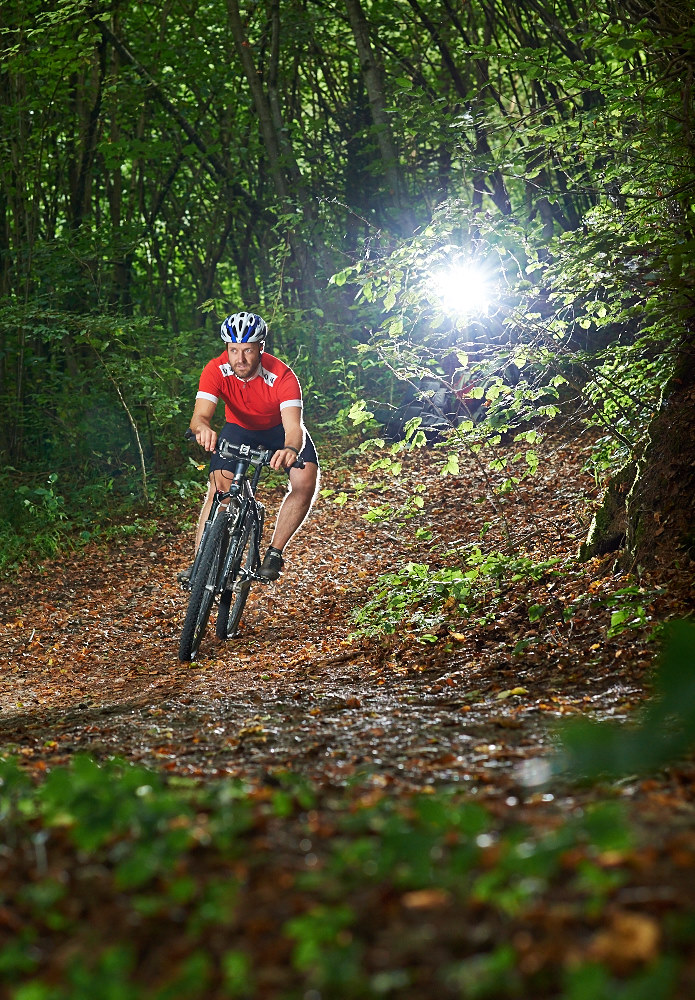 Mountain Bike Testshooting im Todsfelder Tal – hier mit zwei Jinbei Porty