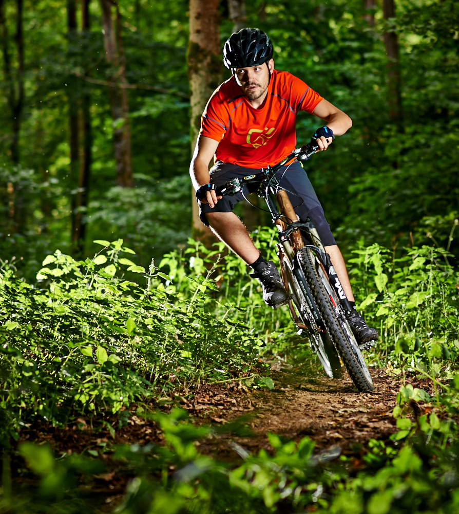 Mountain Bike Test-Shooting in der Fränkischen