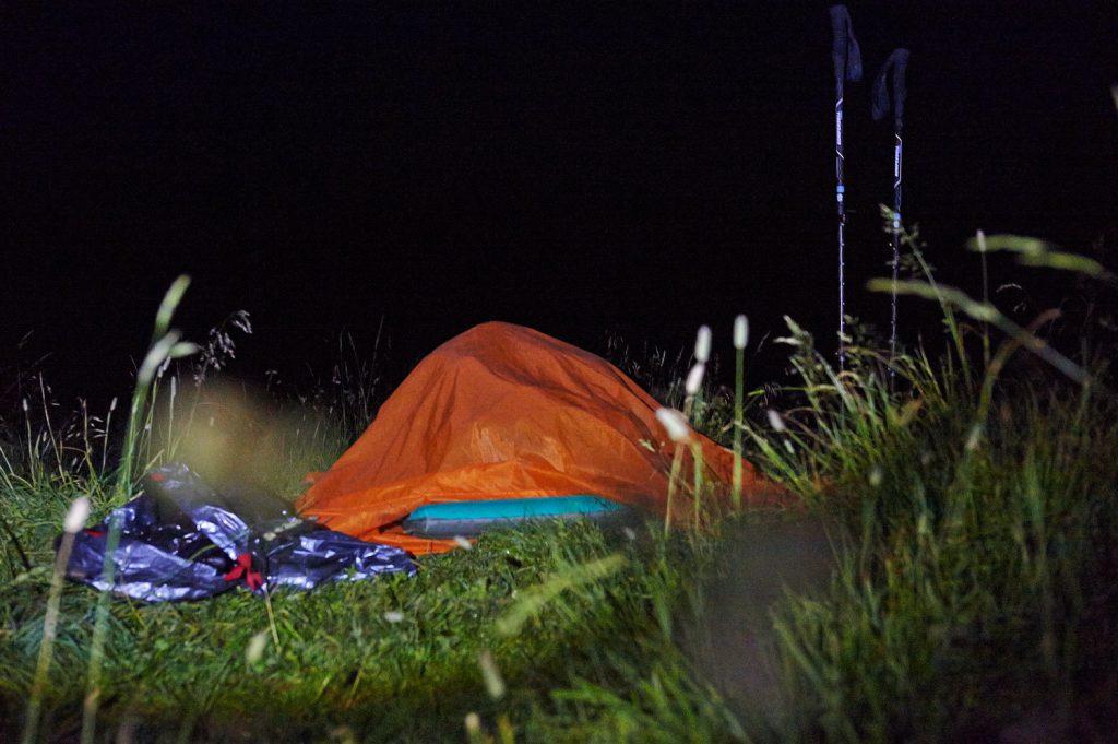 Nachtlager in den Tannheimer Bergen