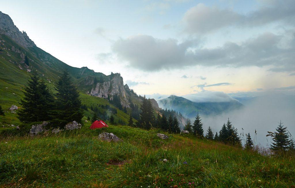 Schneller Wetterwechsel in den Tannheimer Bergen: Bild 2 von 4 innerhalb einer Minute