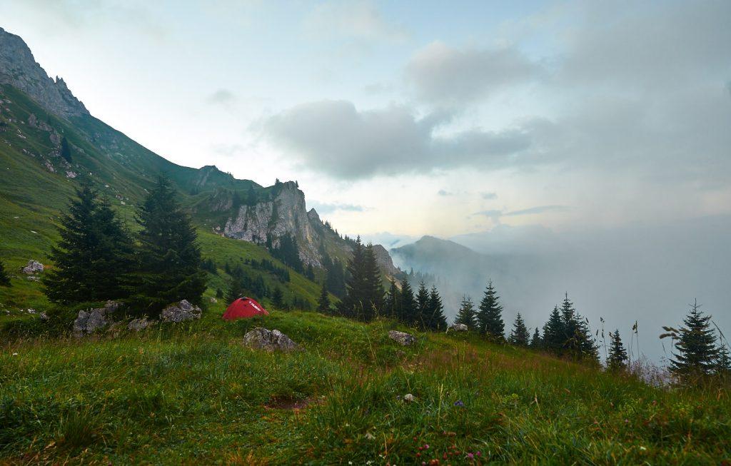 Schneller Wetterwechsel in den Tannheimer Bergen: Bild 3 von 4 innerhalb einer Minute