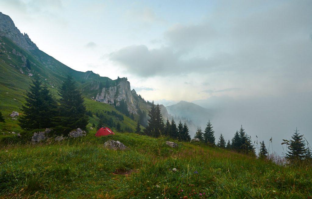 Schneller Wetterwechsel in den Tannheimer Bergen: Bild 4 von 4 innerhalb einer Minute