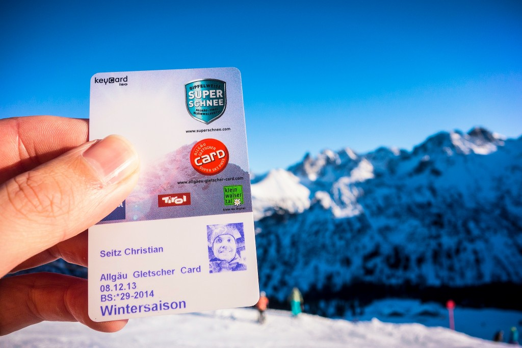 Die Allgäuer Gletscher-Karte für die Saison 2013/14