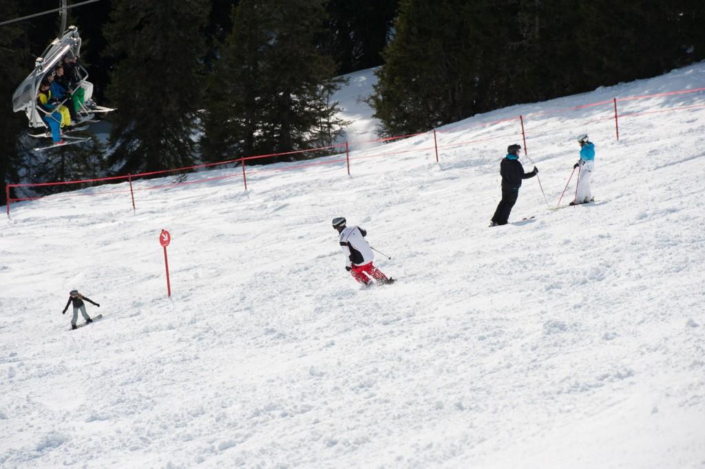 Skifahren am Seeecklift am Fellhorn