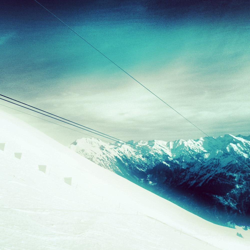 In der Gondel zum Fellhorn-Gipfel