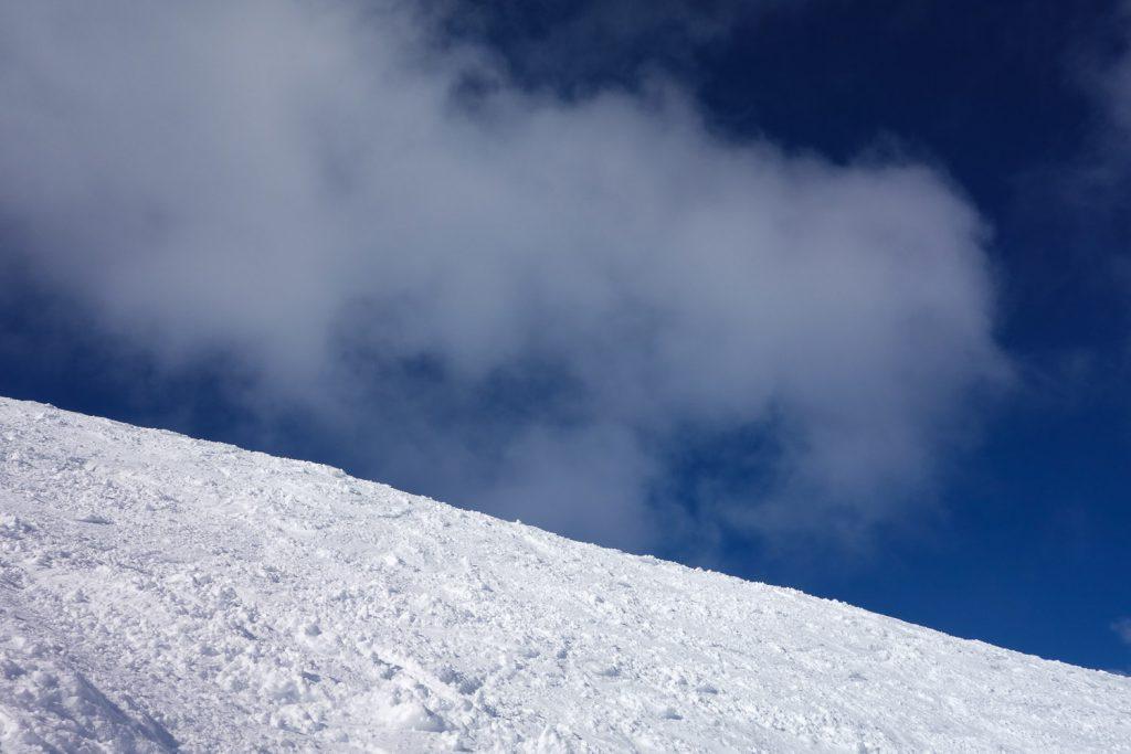 Himmel, Wolken und Schnee
