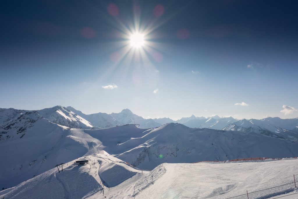 Sonniger Tag an Kanzelwand und Fellhorn