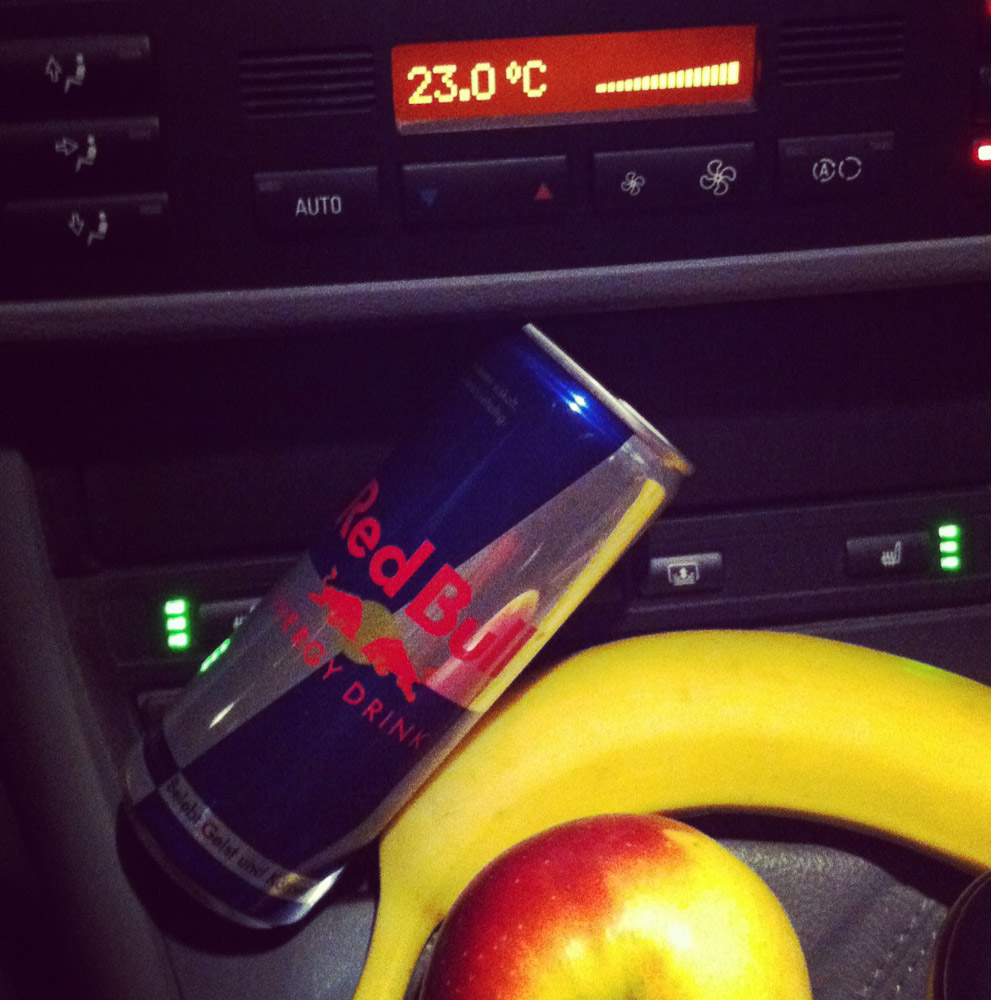 Frühstück on the Road. Aufbruch zum Hohen Ifen