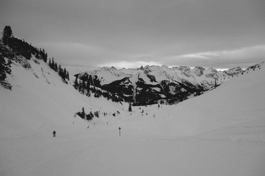 Nicht so tolle Sicht aber super Schnee